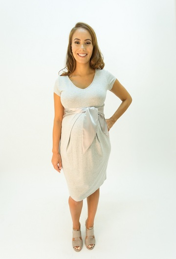 Cety Grey Maternity Dress
