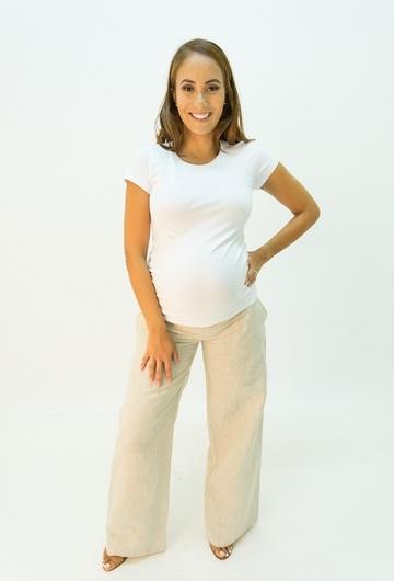 Weekend Maternity Linen Pants