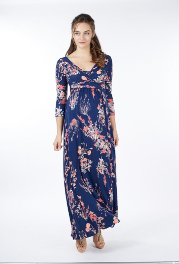 Nina Long Maternity Dress