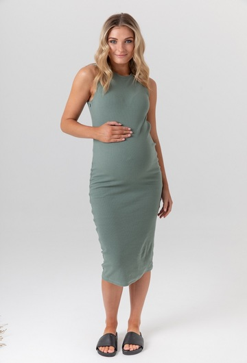 Portugal Pregnancy Dress Olive