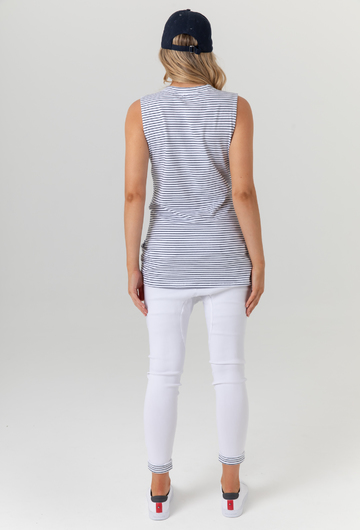 Sicily Tank-Thin Stripe