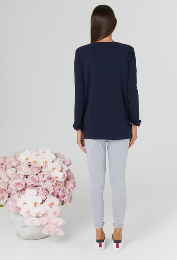 Rancho Relaxo Maternity Jumper Navy