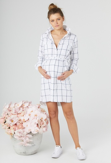 Check Shirt Dress UK10
