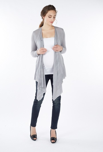 Sangha Waterfall Cardigan - Grey Size Large