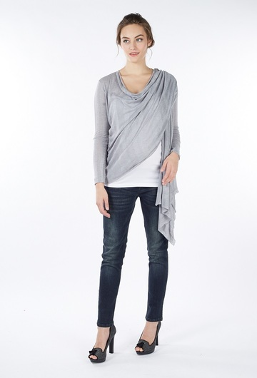 Sangha Waterfall Nursing Wrap - Grey