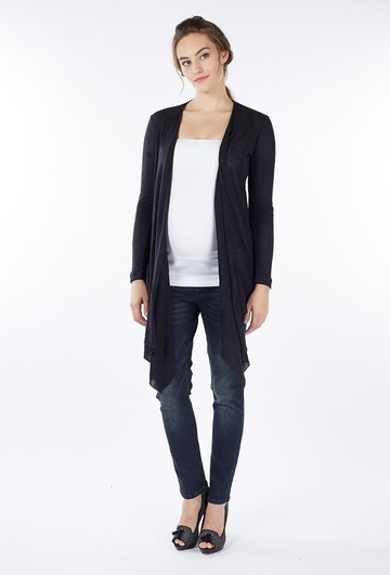 Sangha Waterfall Cardigan - Black - Size Small