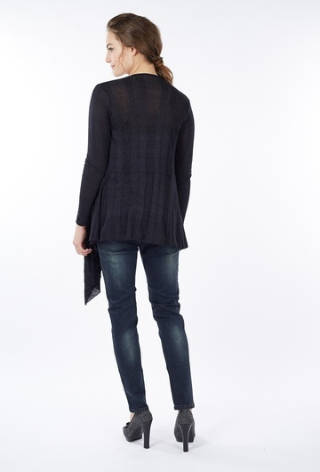 Sangha Waterfall Cardigan - Black