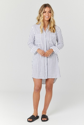 New York Shirt Nursing Dress