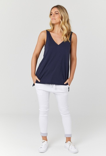 Louis Nursing Tank Navy