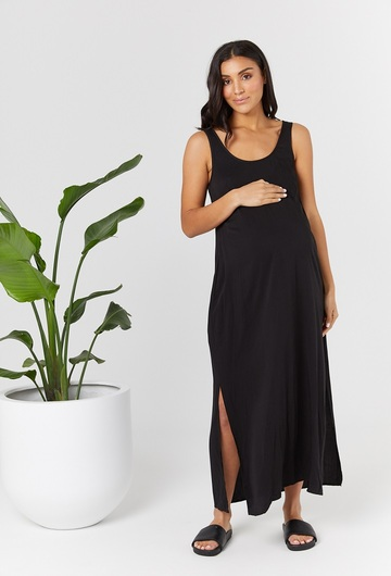 Ryder Black Maternity Dress