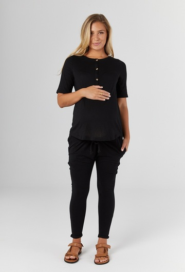 Missy Maternity T Shirt Black