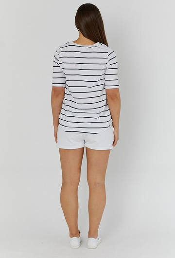 Missy Striped Maternity T Shirt