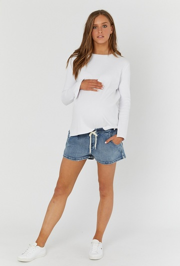 Denim Shorties - Dark Blue