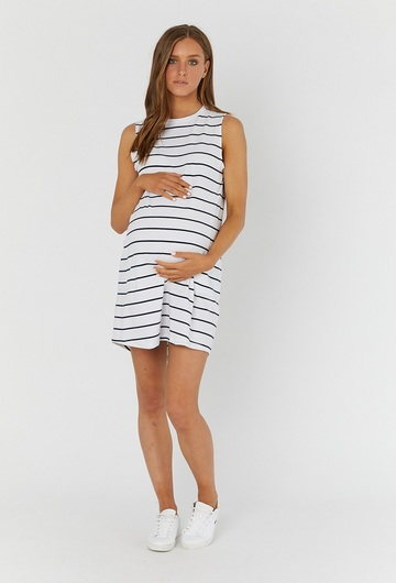 Panel Striped Dress