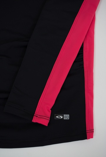 Exclusive!- Maternity Rash Guard Black/Rose