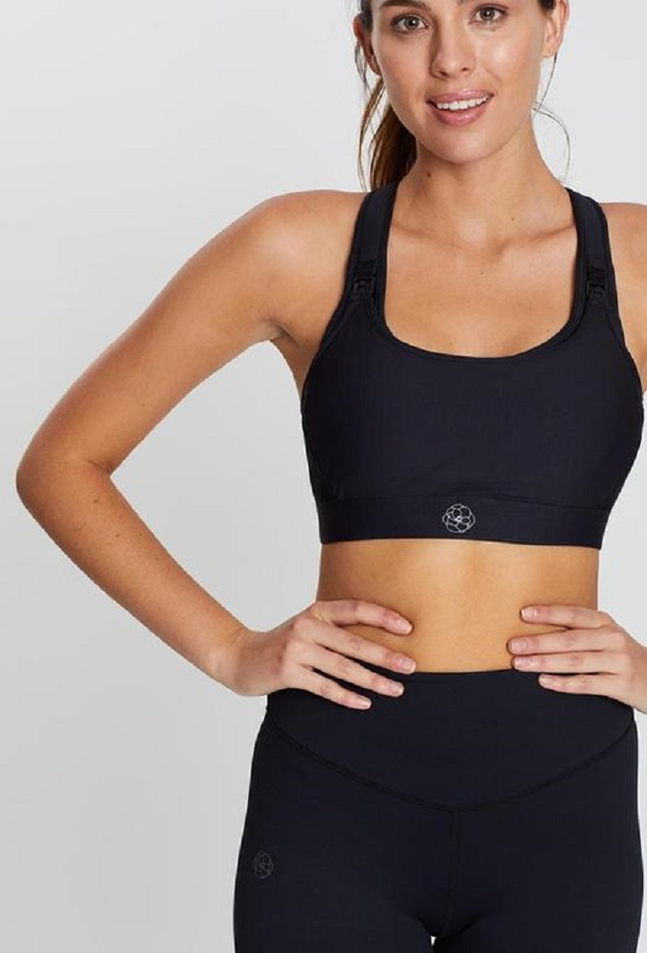 Luna BLK Nursing Sports Bra
