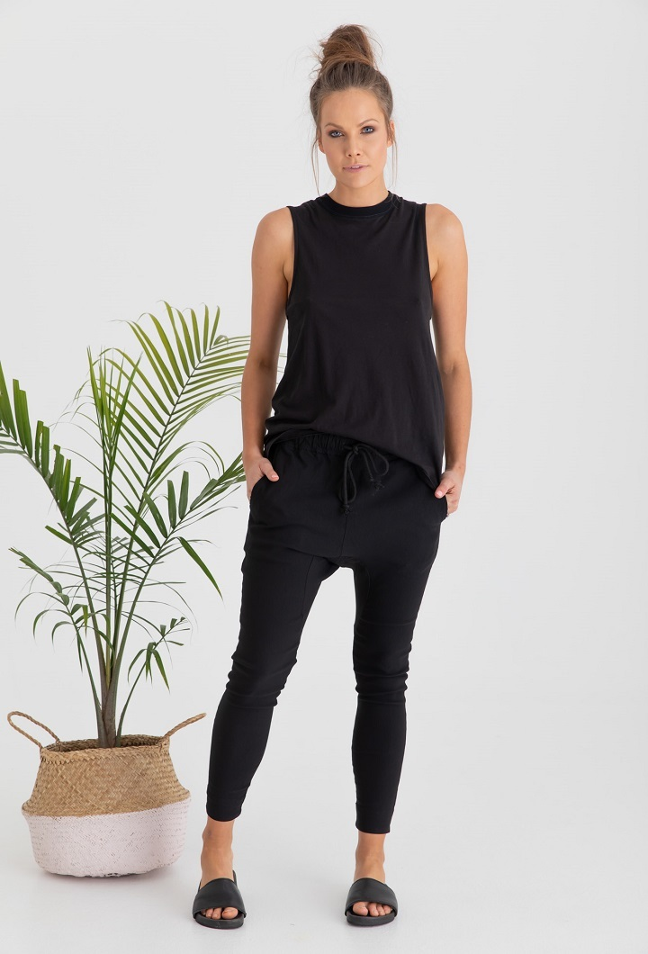 Sicily Breastfeeding Tank Top Black