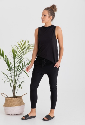Sicily Nursing Tank Top Black Side