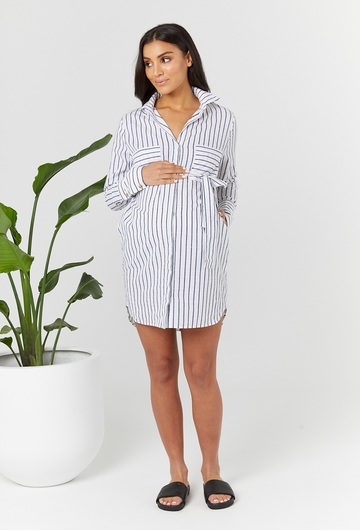New York Shirt Maternity Dress