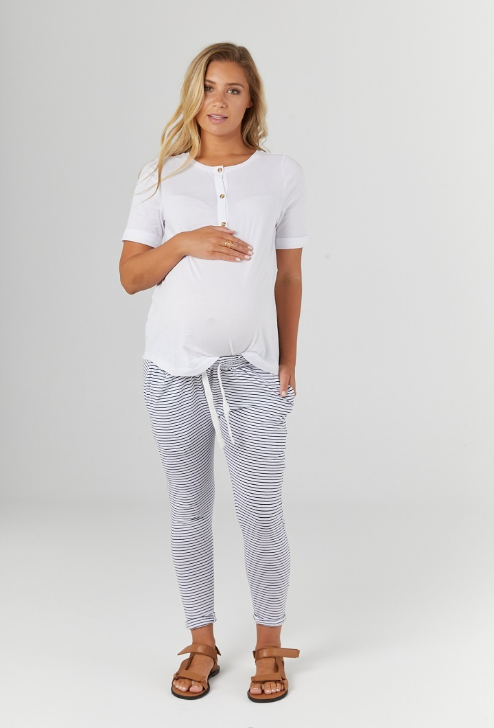 Missy White Maternity Top