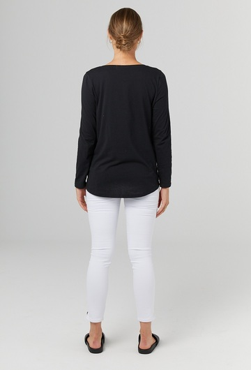 Millicent Maternity Long Sleeve Top Back