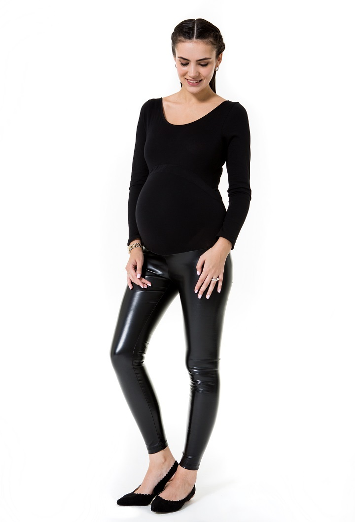 Shiny Maternity Tights High Rise (Over the bump)