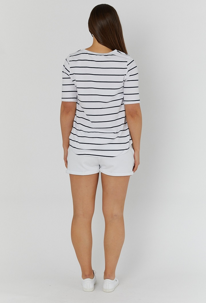Missy Striped Nursing T Shirt