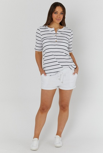 Missy Stripe Breastfeeding Tee