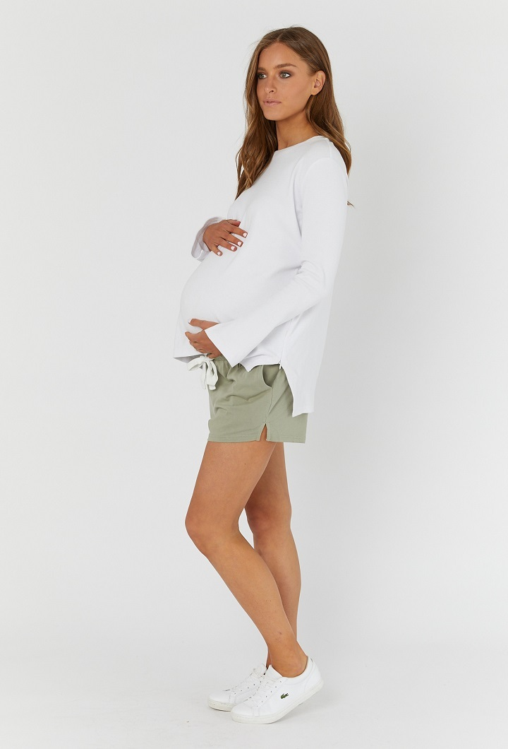 Beach Maternity Shorties Olive