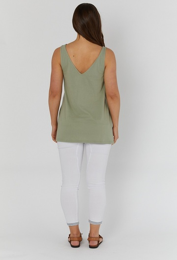 Breastfeeding Top Olive