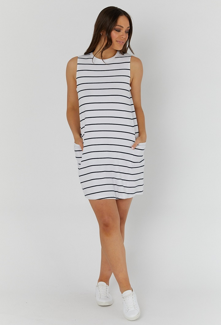 Panel Nursing Stripey Dress