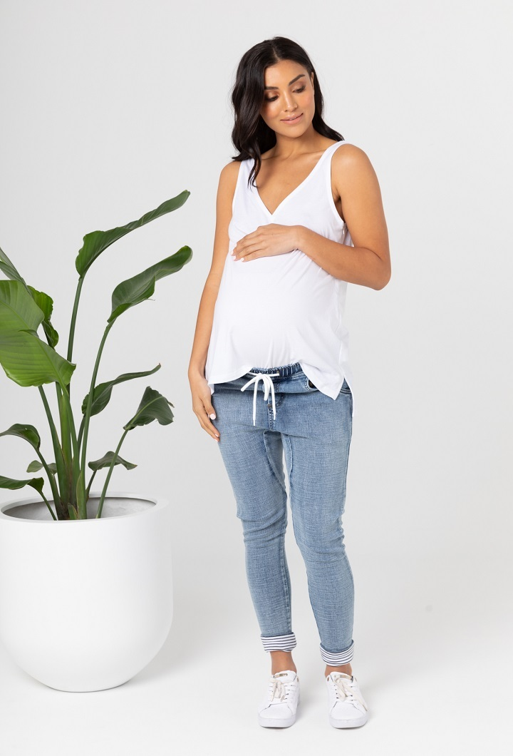 White Pregnancy Top