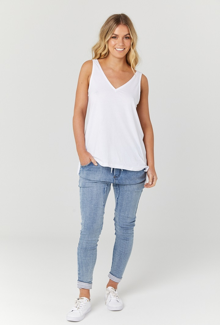White Nursing Tank