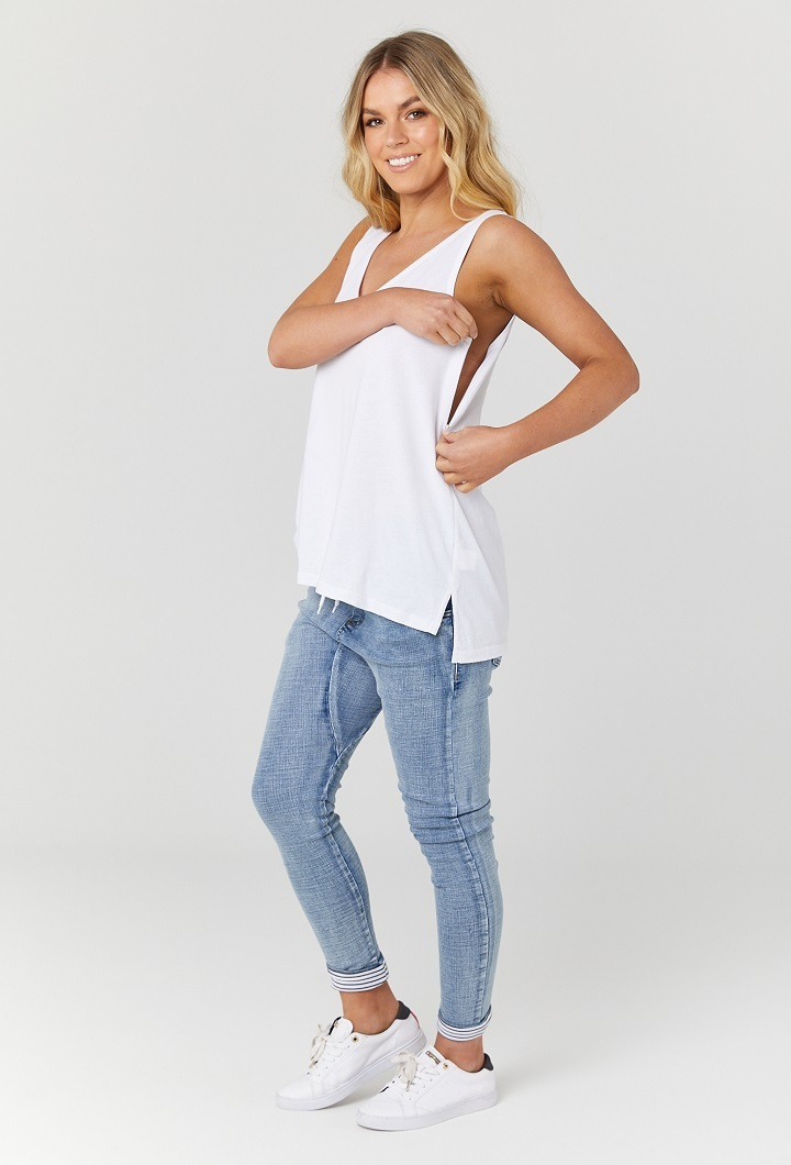 White Nursing Top