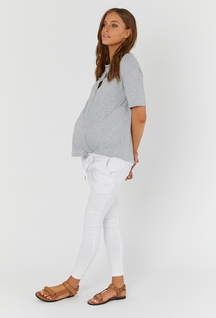 Grey Maternity T Shirt