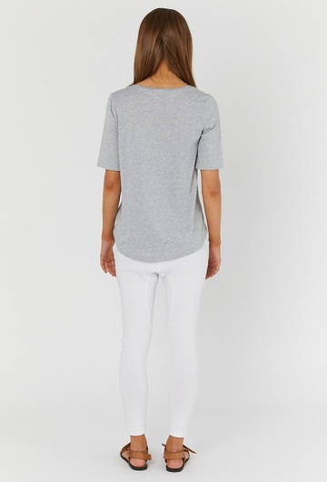 Maternity T Shirt Grey