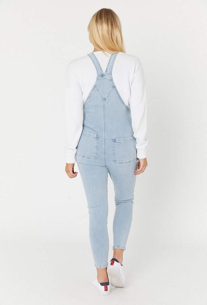 Denim Dungarees Light Blue Back