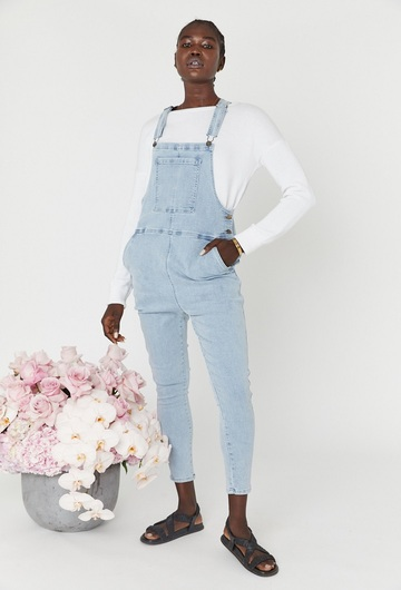 Denim Dungarees Light Blue Nursing